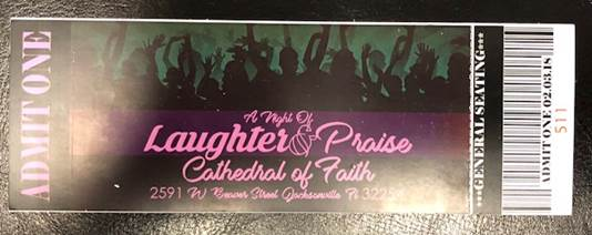a night of laughter and praise ticket photo